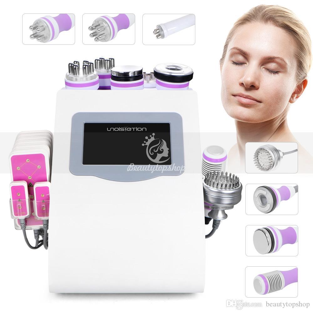 9 в 1 кавитации вакуума радиочастоты холодного фотона лазера LiPo охлаждения фотон терапия кожи затянуть потеря веса машины 6 больших 2 маленьких
