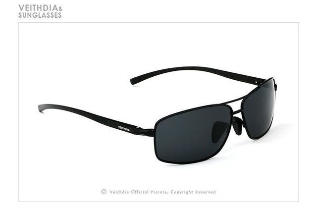 Marca polarizada de los hombres gafas de sol de época Marco de aluminio Gafas de sol Hombres Goggle Eyewear Accesorios Para Hombres 2458