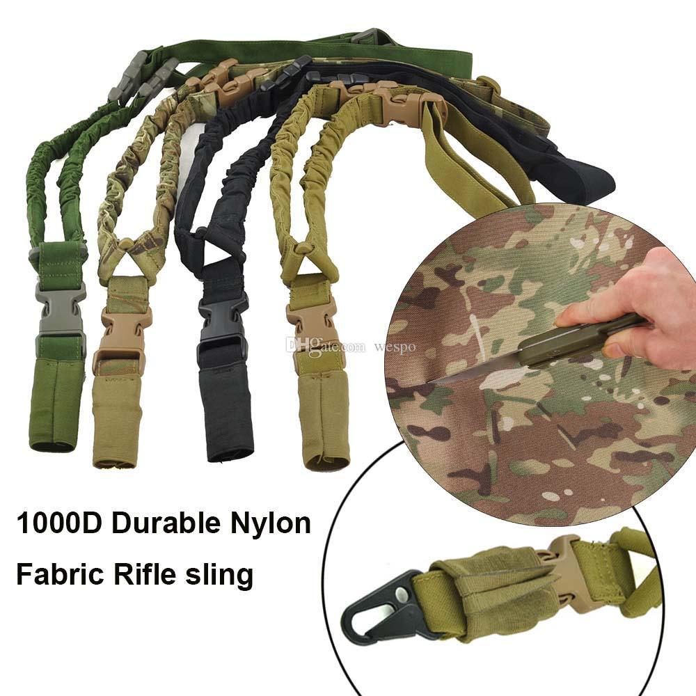 1000D Nylon rifle Tactical gun sling À Prova D 'Água e Durável 1 único ponto alça de ombro sling Para Caça Ao Ar Livre CS Cosplay Jogos