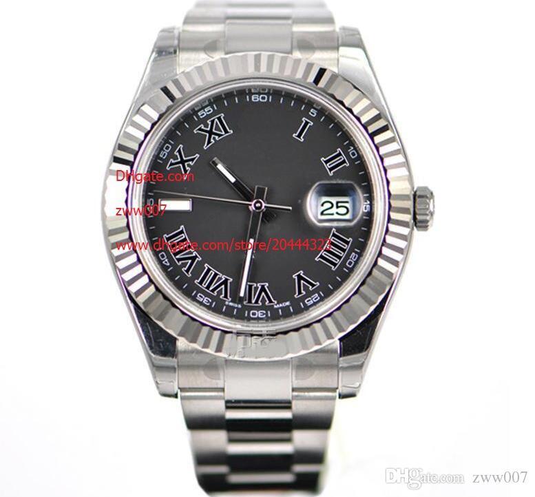 Proveedor de fábrica libre del envío del reloj de zafiro 41mm Negro Dial relojes de pulsera relojes del reloj automático para hombre 116334 de los hombres de