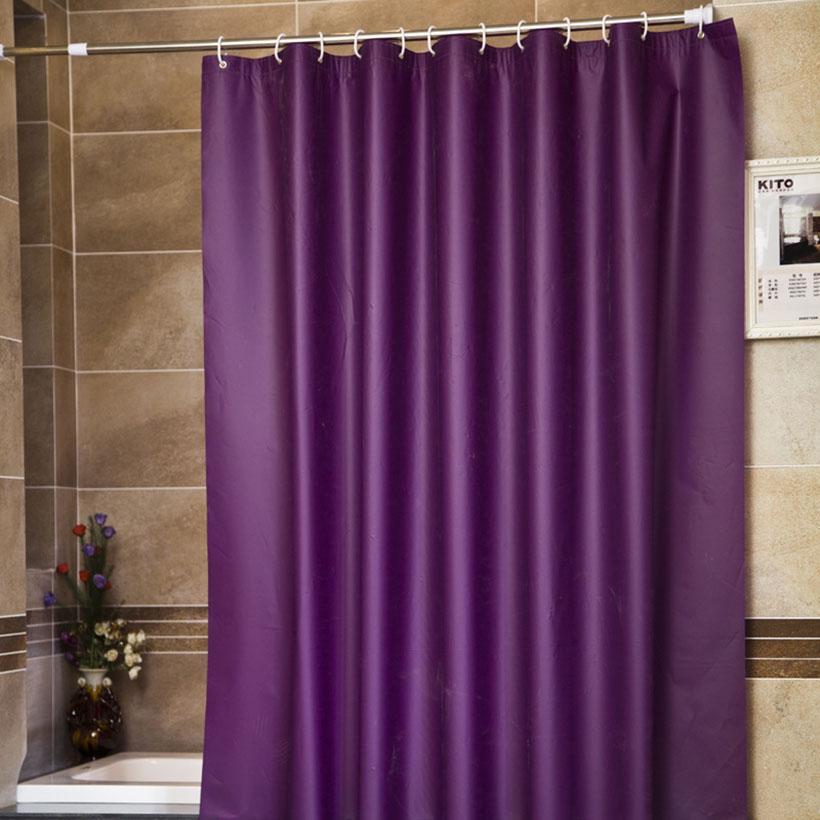 NOVO Design Roxo estilo moderno cortinas de banheiro chuveiro para banho tecido impermeável Sólido Banho Cortina mildewproof Cortinas