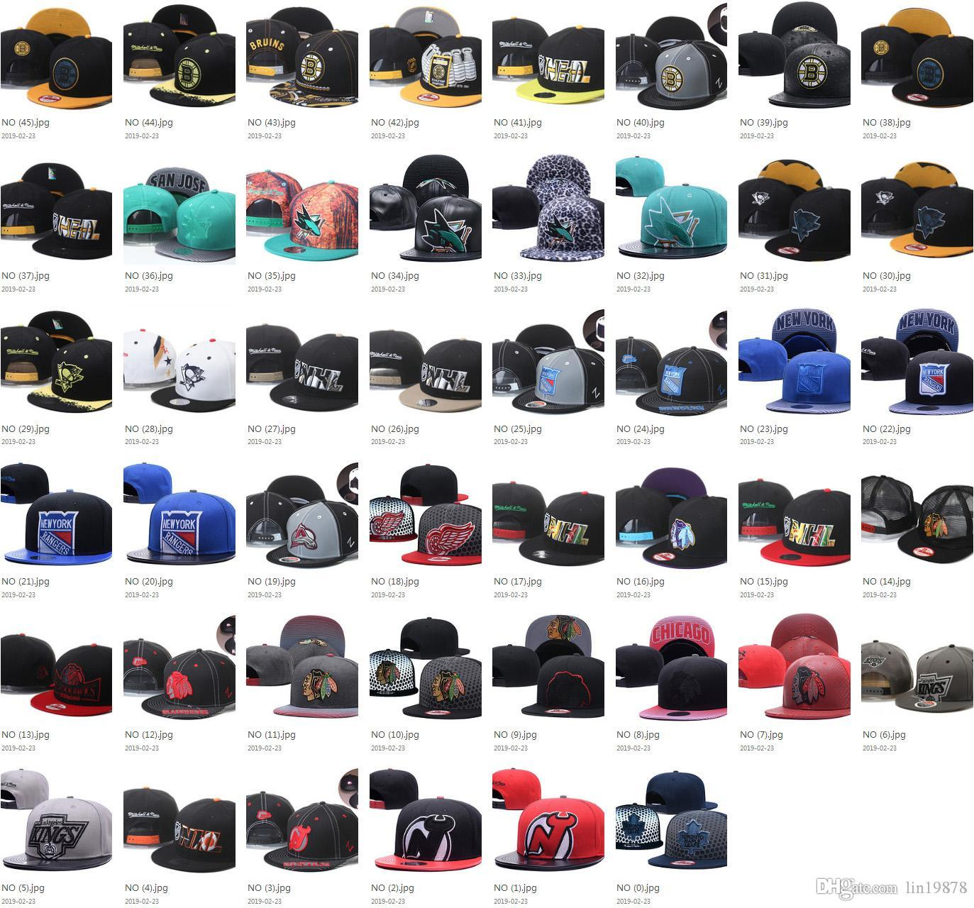 46 Arten NHL Baseball Caps Blackhawks Penguins Flyer Sharks Bruins Maple Leafs Männer Frauen Sport gorras Knochen-Hüte