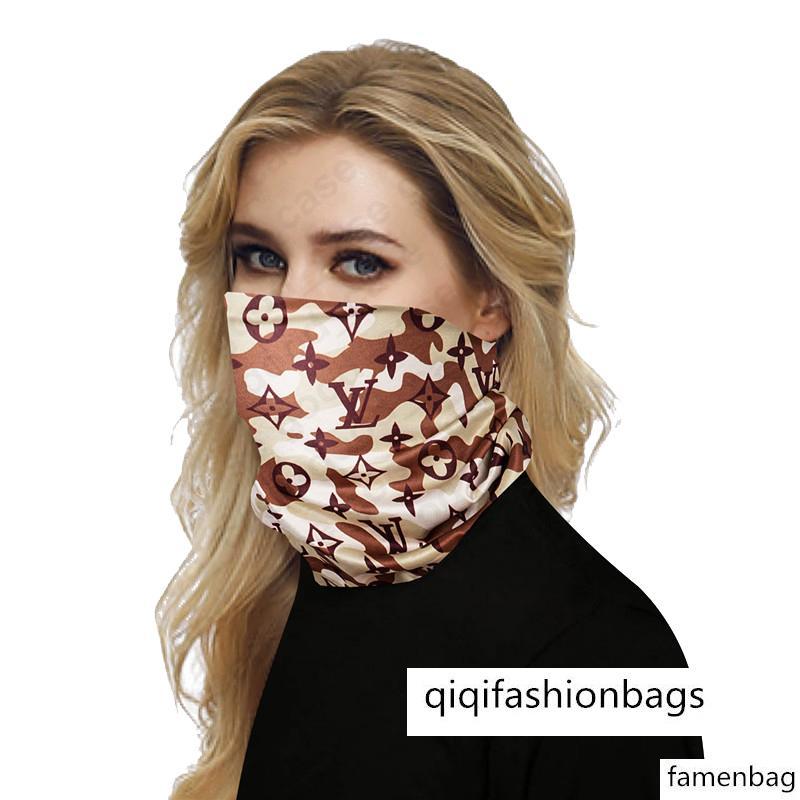 2020 VENTE luxe Demi Masques visage extérieur Faire du vélo Bandanas Foulard Designer Bandeau Bandeaux Foulards Lavable de protection Masque Visage