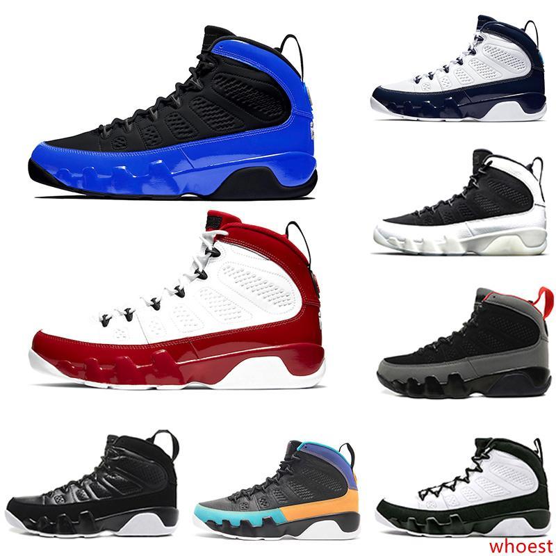 2020 Jumpman Gimnasio Corredor del rojo azul de cítricos 9 IX 9s zapatos para hombre de baloncesto Sóñelo UNC LA Oreo mermelada espacio Bred deportes de los hombres zapatillas de deporte 7-13