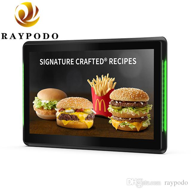 "Raypodo 10.1 "" 1280 * 800 Resolution Android POE Touch Screen Monitor With LED Light Bar Indoor Using"