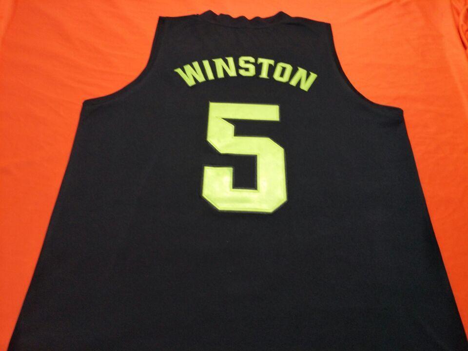 mulheres costume Homens juventude negra Vintage VERDE BRANCO # 5 Cassius Winston Basketball Jersey Tamanho S-4XL ou personalizado qualquer nome ou número de camisa