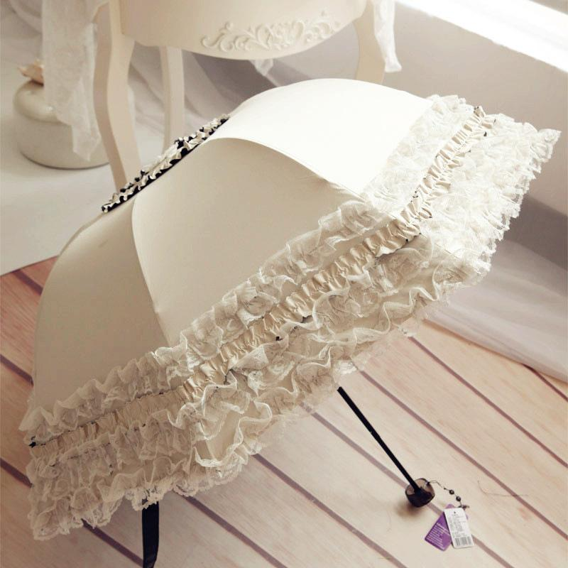 NEW Lace umbrella Christmas sun umbrella women's parasol ultra light folding uv con proteccion solar sombrillas