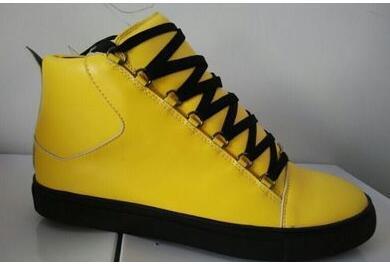 mens marca Designer sapatilhas das mulheres de raça Arena vincadas formadores sapatos de couro de alta Top Runner confortável Partido shoesR01