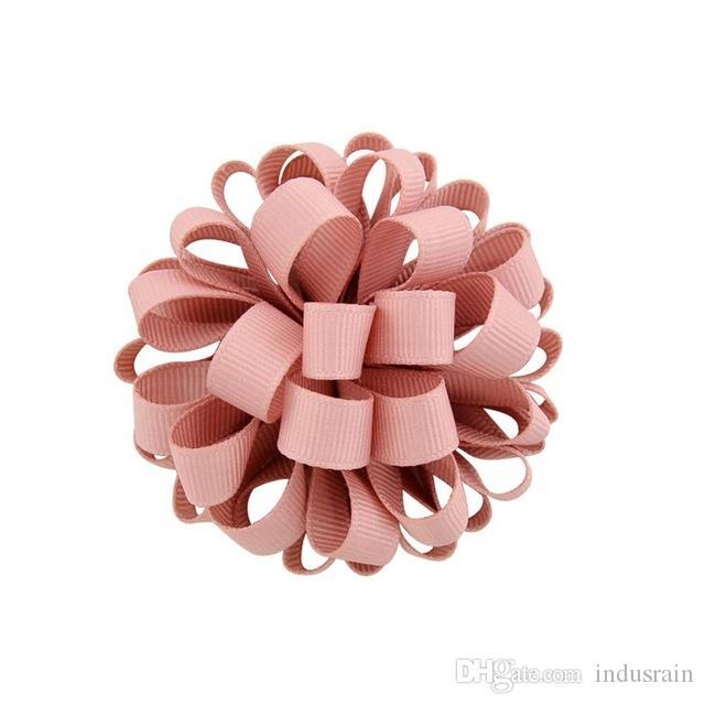 Yeni Tasarım Grogren Şerit Çiçek ile Elastik Halat Çiçek Saç Bantları Aksesuarlar