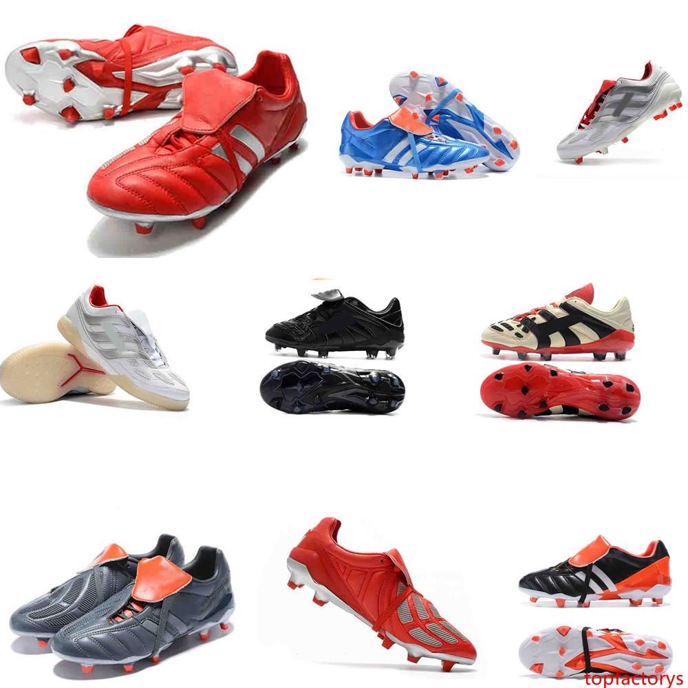 100% Original Predator 19 Purecontrol Champagne FG Soccer Shoes waterproof Football Boots Mens PREDATOR MANIA Messi Soccer Cleats