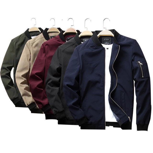 Nuovi uomini giacca casual primavera autunno slim fit softshell bomber di volo giacche da uomo o-collo cappotti leggeri 6XL vestiti T190912
