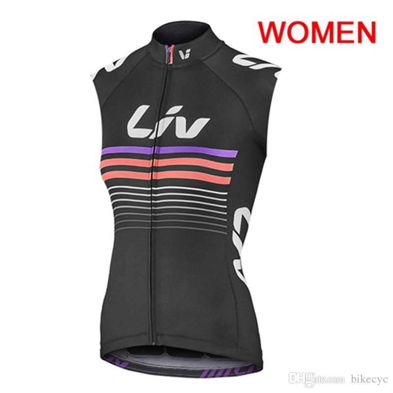 LIV equipo ciclismo sin mangas jersey chaleco verano mtb desgaste al aire libre deportes maillot Ropa Ciclismo Fábrica Venta directa U52918