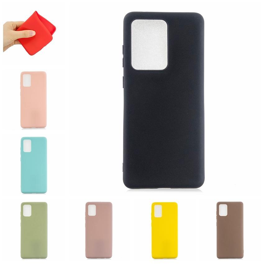 Ultra Thin TPU del caso para Samsung Galaxy S20 de la piel de teléfono de gel de silicona S20 S20 Plus delgado mate ultrafino Llanura cubierta de lujo Ultra
