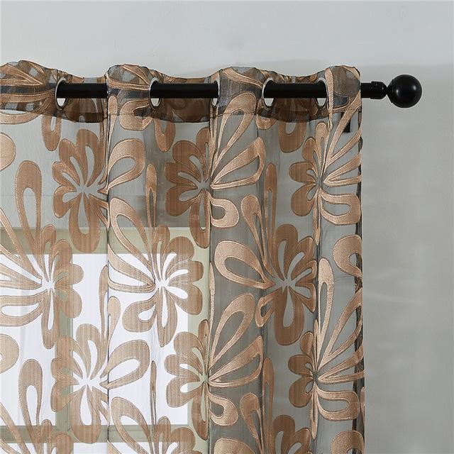 acheter geometrique moderne de fenetre panneaux de voilage pour la chambre a coucher salon cuisine stores traitements draperies de 11 67 du yiyu hg