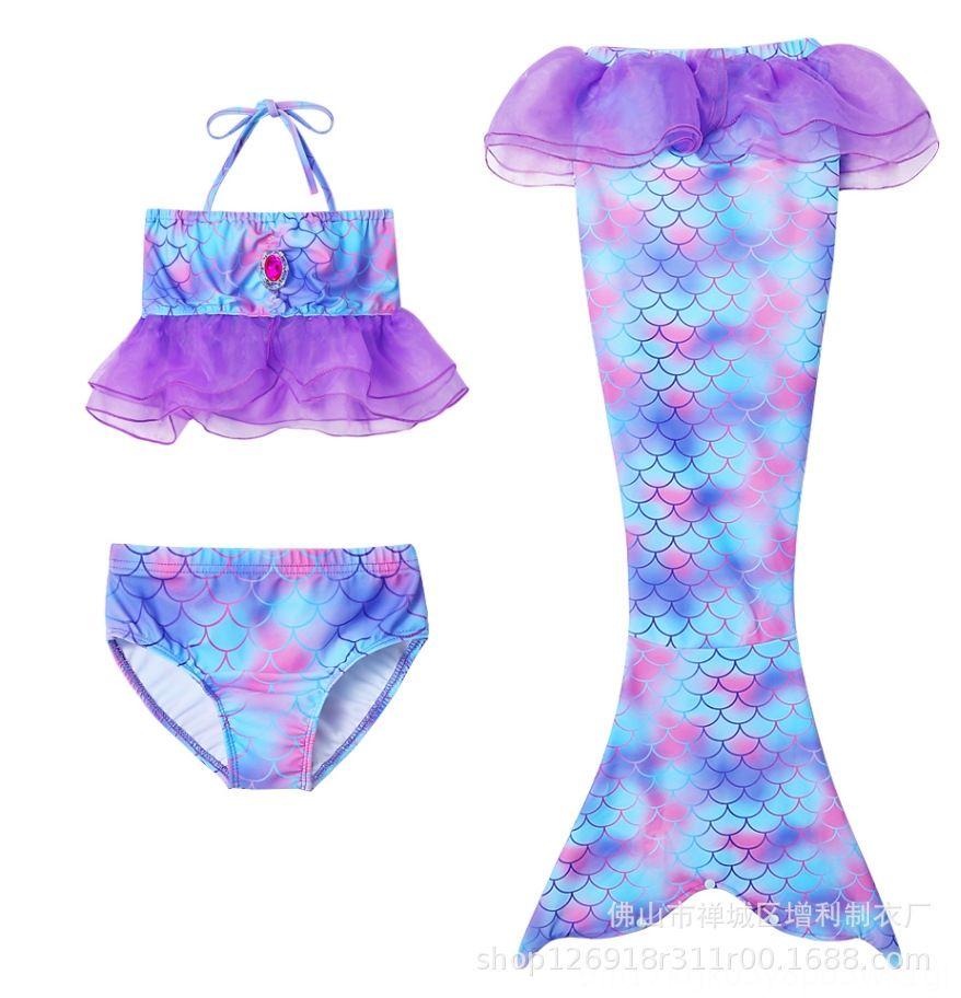 leQQC Девочка фантазии swimsuitshipping хвост бикини купальник девушки лето пляж Русалка