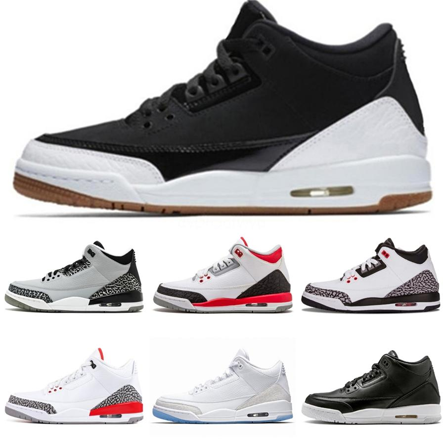 2020 Travis Scotts 3 3S Men Basketball Shoes Cactus Jack White Cement Black Cat Fire Red Designer Sneakers Iv Pure Money Mens Trainers#416
