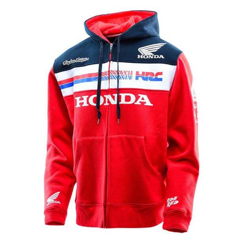 Hombres calientes mujeres MOTO GP para Honda HRC Racing cremallera con capucha con capucha moda hombres chaqueta tamaño S-3XL