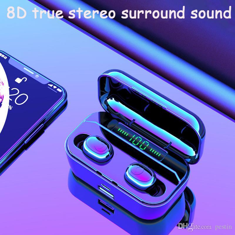 3500maH 충전 창고와 헤드폰 TWS 블루투스 이어폰을 두 번 귀에서 귀 LED 디스플레이는 전화를 1PCS 배달을 충전 할 수