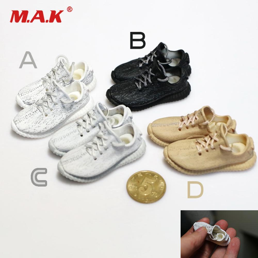 Chaussures Figure of 4 Colors 1: 6 Échelle Mode Homme Casual Sneaker Chaussures Modèle Fit 12 '' Action Figure Body Accessoires