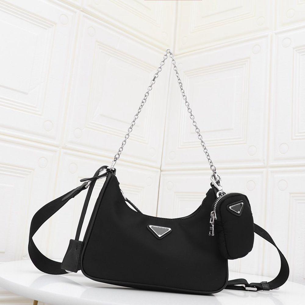 2020 مصمم CROSSBODY حقيبة نايلون الأفاق Luxuryss الفاصل حقيبة يد للنساء البسيطة Pochette سلسلة CROSSBODY حقيبة مصمم مفتاح الحقيبة حقائب النساء