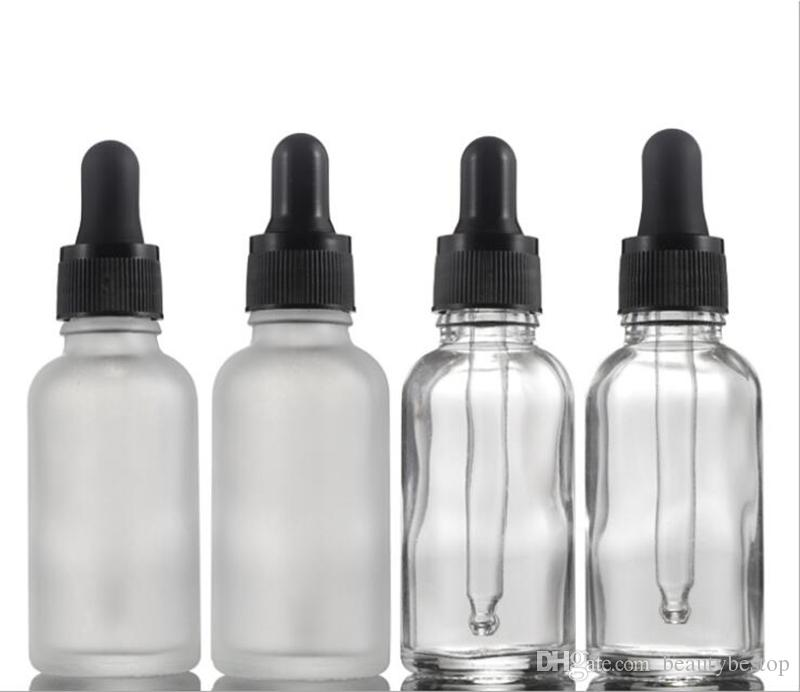 30ml Frosted Clear Glass Bottles With Pure Dropper Empty Oil Bottles With Childproof Cap Glass Liquid Reagent Pipette Bottle