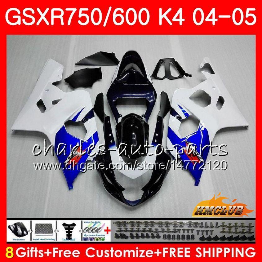 鈴木GSX R600 R750 GSXR 600 GSX-R750 GSXR 600 750 04 05 7HC.5 GSXR-750在庫ホットGSXR750 K4 GSXR-600 04 2004 2005フェアリング