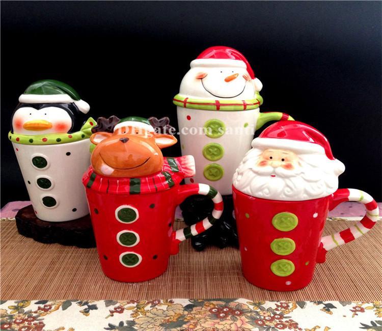 60pcs fête Party événement bouteille d'eau renne du Père Noël original Tasse mi-lou tasse de bonhomme de neige des amateurs de café