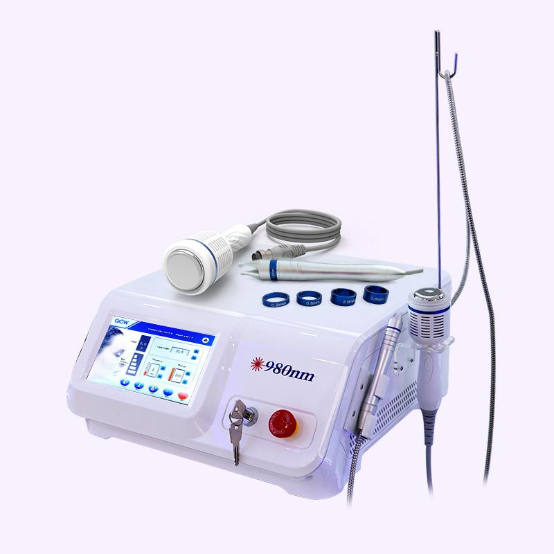 Portátil Vascular remoção 980nm Diode Laser de Alta Frequência Veias aranhas Remover Sarda Mancha tratamento de rejuvenescimento da pele Spa Salon Máquina