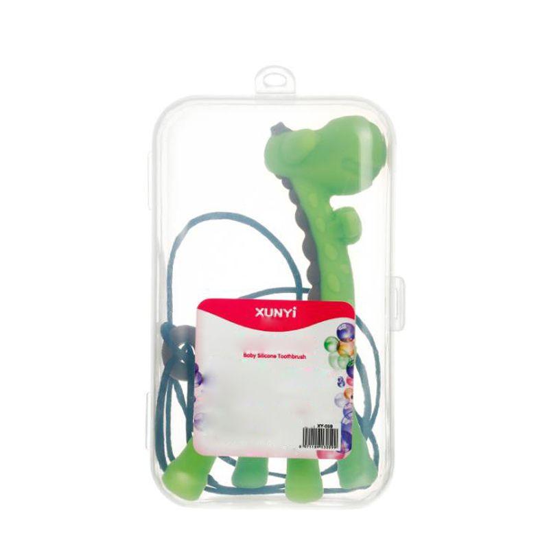 Deer Zahngummi Halskette Zahngummi Baby Molaren Zahn-Stick voll Silikon Spielzeug Bissgummi