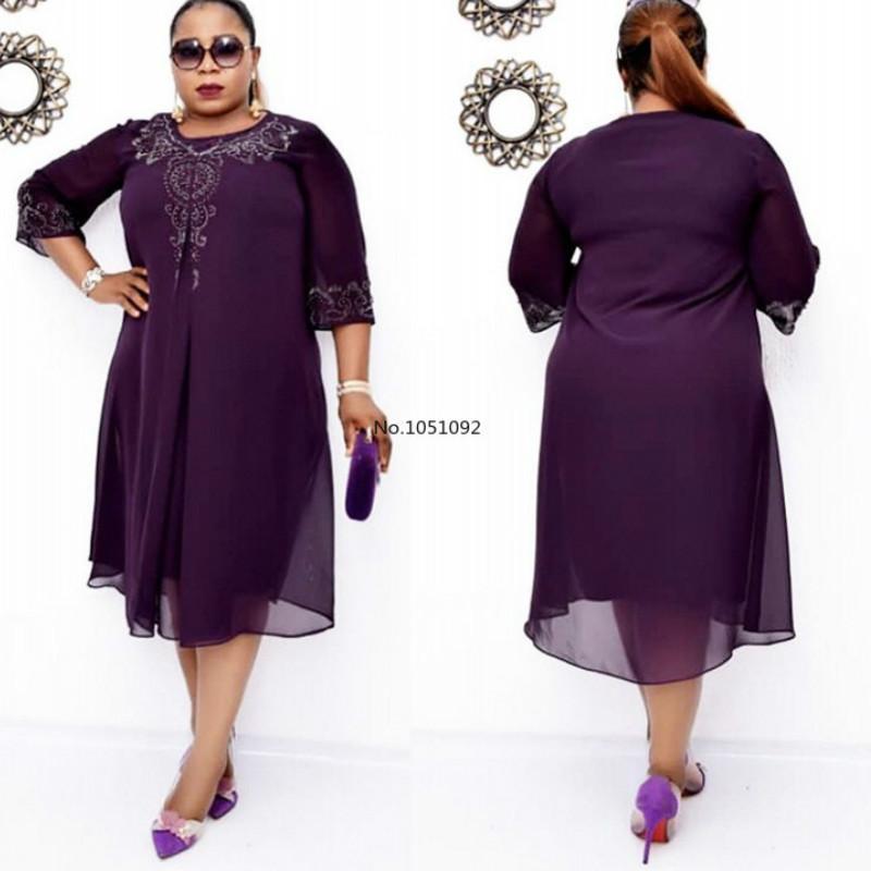 Fashion African Women Plus Size Midi