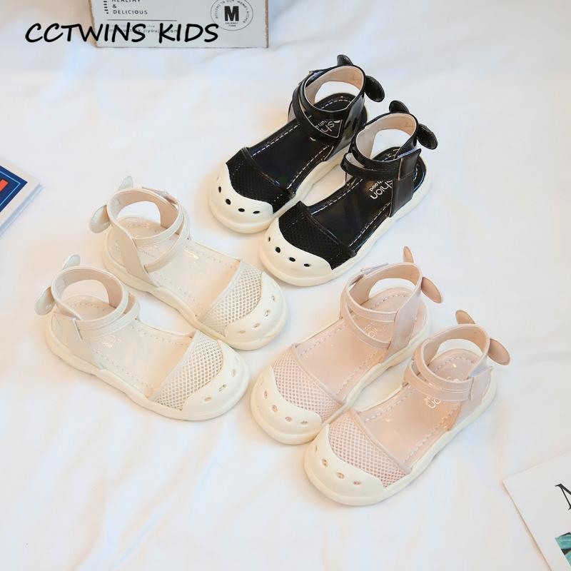Kids Flat 2020 Summer Children Butterfly Soft Shoes Baby Girls Brand Black Shoes Toddlers Fashion Princess Sandals PY-PS-056