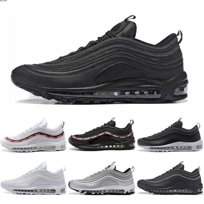 Nike air max 97 tênis de corrida dos homens novos de chegada Running Shoes Almofada de prata Sapatilhas Ouro Sports Athletic Shoes externas yingb