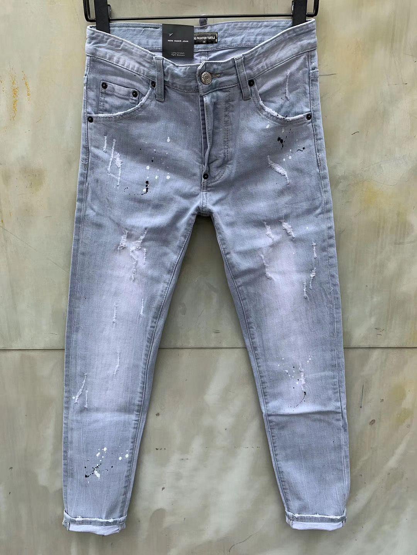 DSQ Jeans Hommes Jeans hommes luxe designerjeans Skinny déchiré Cool Guy Causal Hole Denim Fashion Marque Fit Jeans Hommes Pantalon lavé 6827