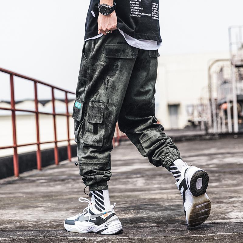 Pantalon Jogger cargo sarouel automne mode décontractée camouflage multi-poches pour hommes automne décontracté lâche cheville-longueur pantalon
