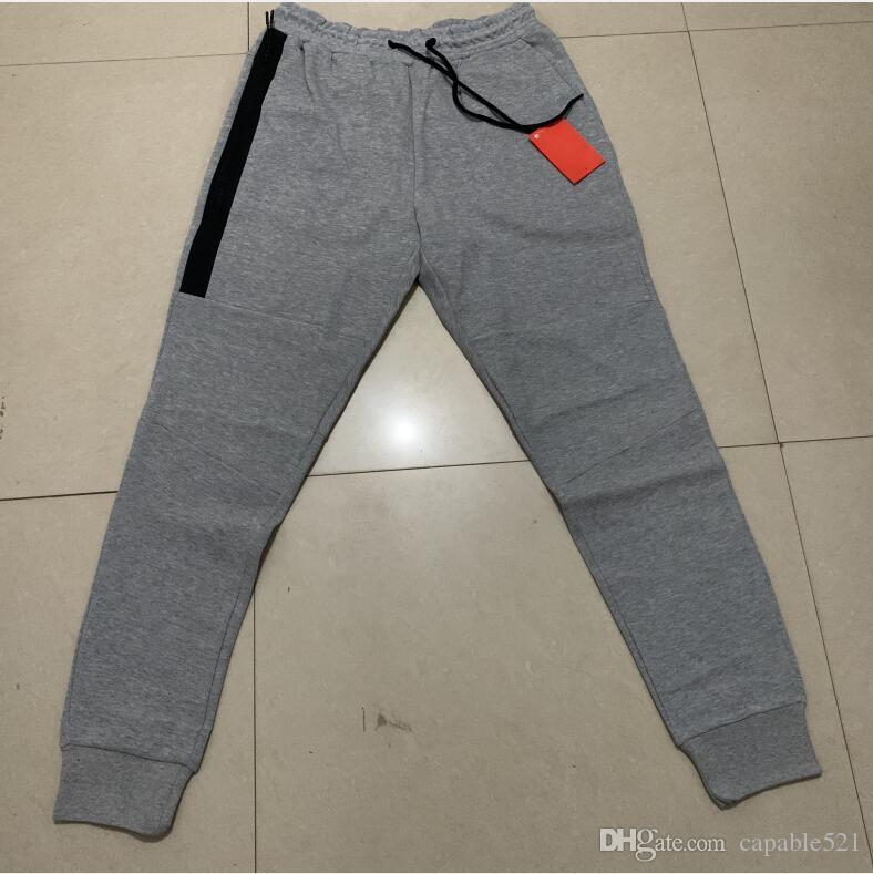 Venta al por mayor Pantalones Tech Fleece deporte espacio pantalones de algodón de los hombres de chándal hombre del basculador del paño grueso y suave de la tecnología de camuflaje Ejecución del pantalón 2 colores