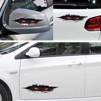 재미 엿보기 눈 장식 비닐 스티커 자동차 바디 창 SUV 도어 헬멧 3D 데칼