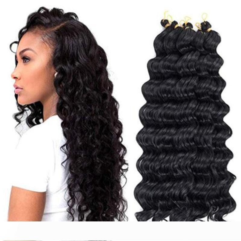 2020 Hot 20inches Deep Wave Crochet Hair Synthetic Hair Weave Ombre Braiding Twist African Braids Deep Curly Crochet Braids Hair Extensions From Diaowanyingyi3 25 45 Dhgate Com