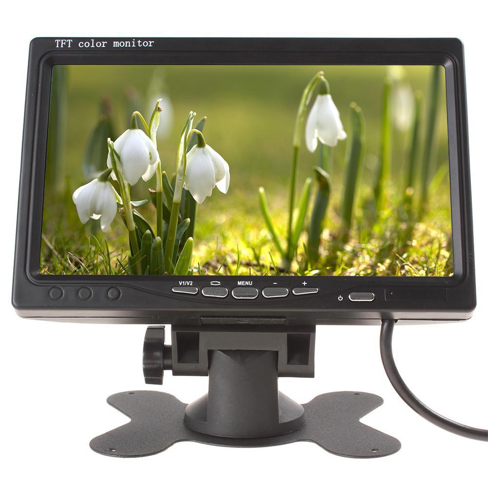 7 인치 범용 버스 역 카메라 자동차 원격 제어 백업 LCD 유선 트럭 HD 디스플레이 주차 사이드 안정을 모니터