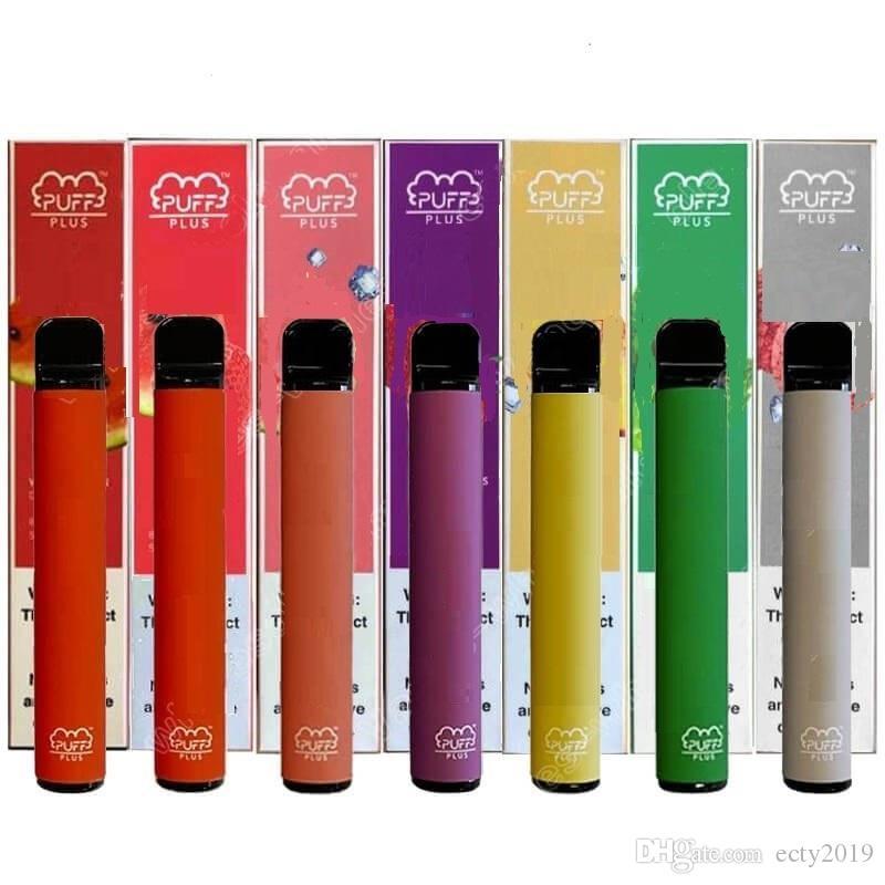 Puff Artı Bar Tek Vape Kalem Cihaz Bakla Başlangıç Setleri 550mAh battey 3.2ml Kartuşları Buharlaştırıcı Kalem E-Sigara Setleri Packaging boş