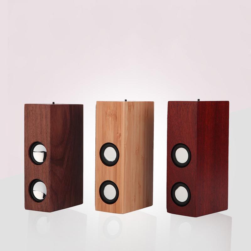 Qi wood wireless Bluetooth speaker Creative Desktop multi-function wireless induction speaker mini sound