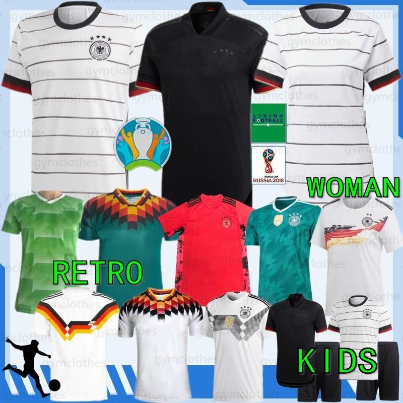 Tay 20/21 Euro Retro yeni Futbol Formalar Hummels Kroos Draxler REUS MULLER Götze Avrupa Kupası adam + kadın + çocuklar Futbol Formalar