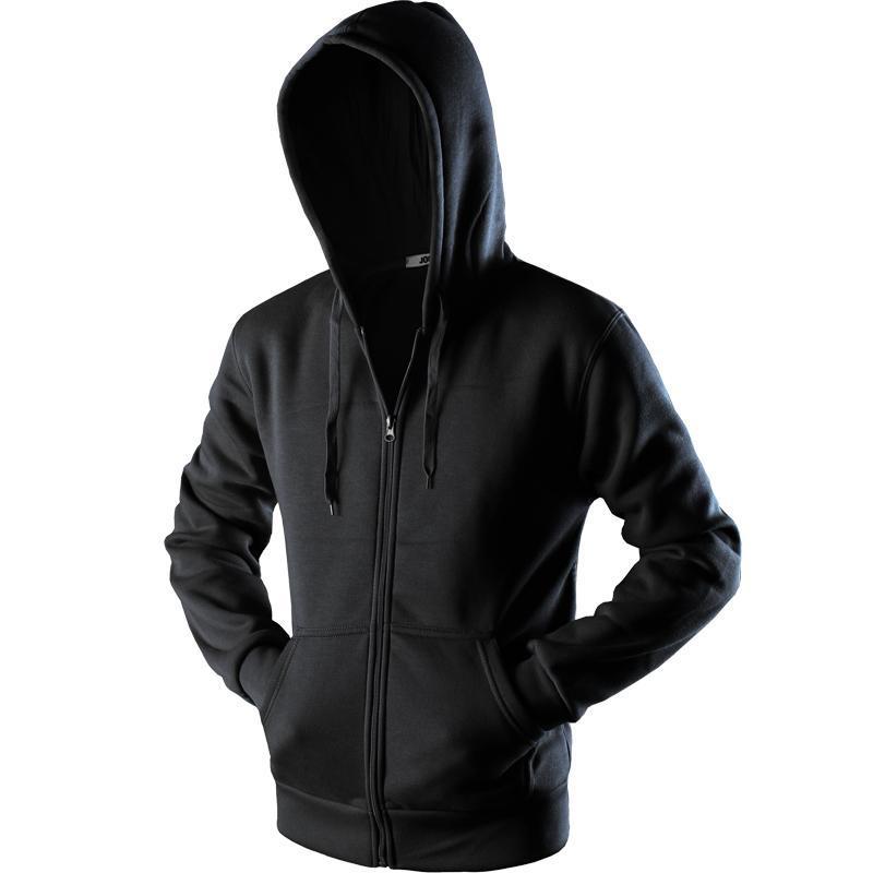 New Plain Mens Zip Up Hoody Jacket Sudadera con capucha Cremallera masculina Top Prendas de abrigo Negro Gris Boutique hombres Envío gratis
