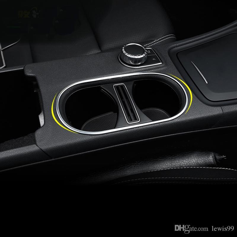 메르세데스 벤츠 CLA GLA에의 Class W176 C117 A180 2014-2020 자동차 액세서리 자동차-스타일링 내부 물 컵 홀더 커버 트림 스트립 스티커