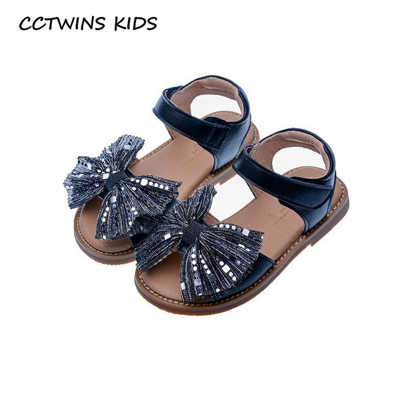 CCTWINS Kids Shoes 2020 Summer Toddler Brand Butterfly Sandals Baby Girls GLitter Shoes Children Fashion Princess Flat PS882