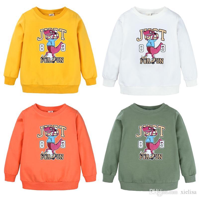 modello del fumetto dei bambini ragazzi e ragazze Felpa paillettes maglietta del bambino di modo supera i T vestiti DBT097 trasporto libero