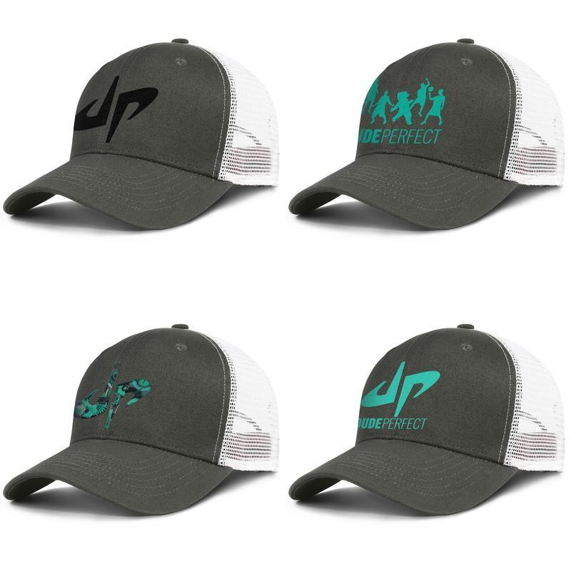 Dude Perfect Logo Fitted Flat Brim Baseball Cap Hat