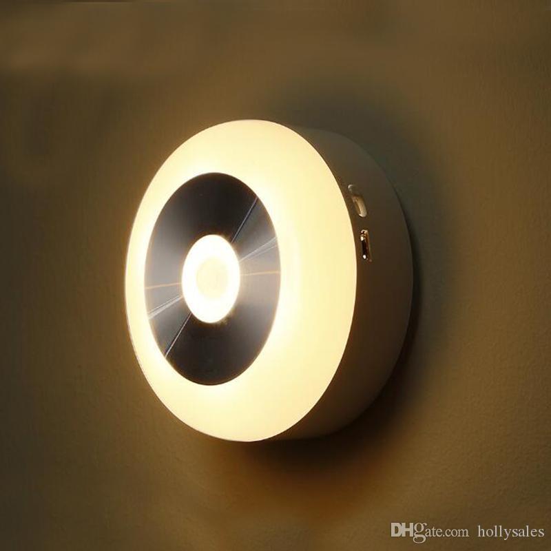 Wireless Night Light PIR Motion Auto Sensor 6 LED Lamp Lights Battery Operated K