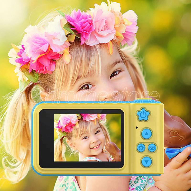 K7 كاميرا كاميرا مصغرة كاميرا رقمية لطيف الكرتون كاميرا طفل لعب الأطفال هدية عيد الشاشة كبيرة كام لالتقاط الصور الملونة