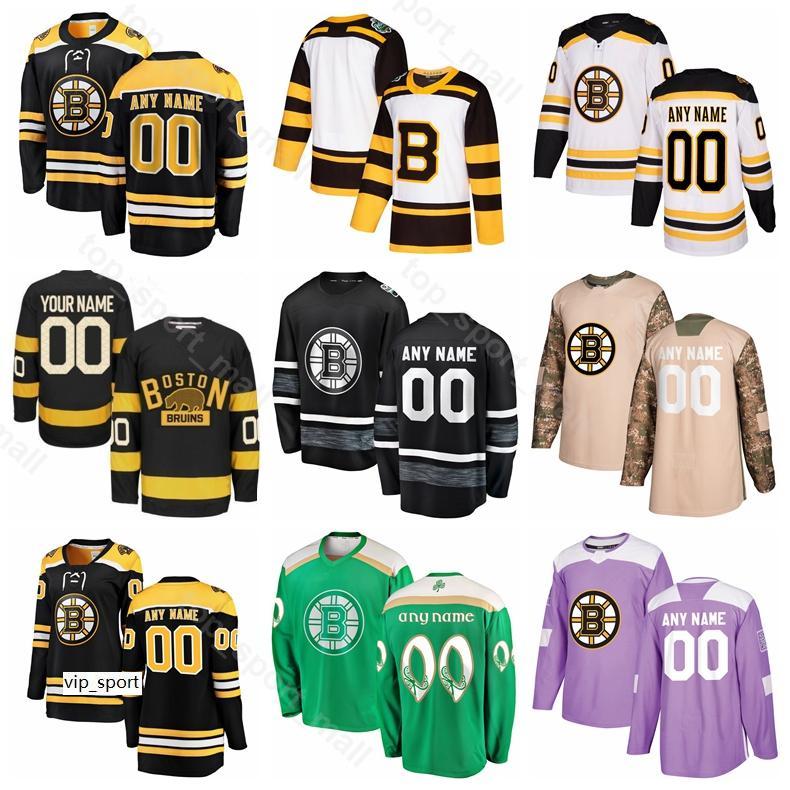 Boston Bruins Hockey su ghiaccio Patrice Bergeron Jersey Zdeno Chara Brad Marchand David Pastrnak David Backes David Krejci Camo Veterans Day