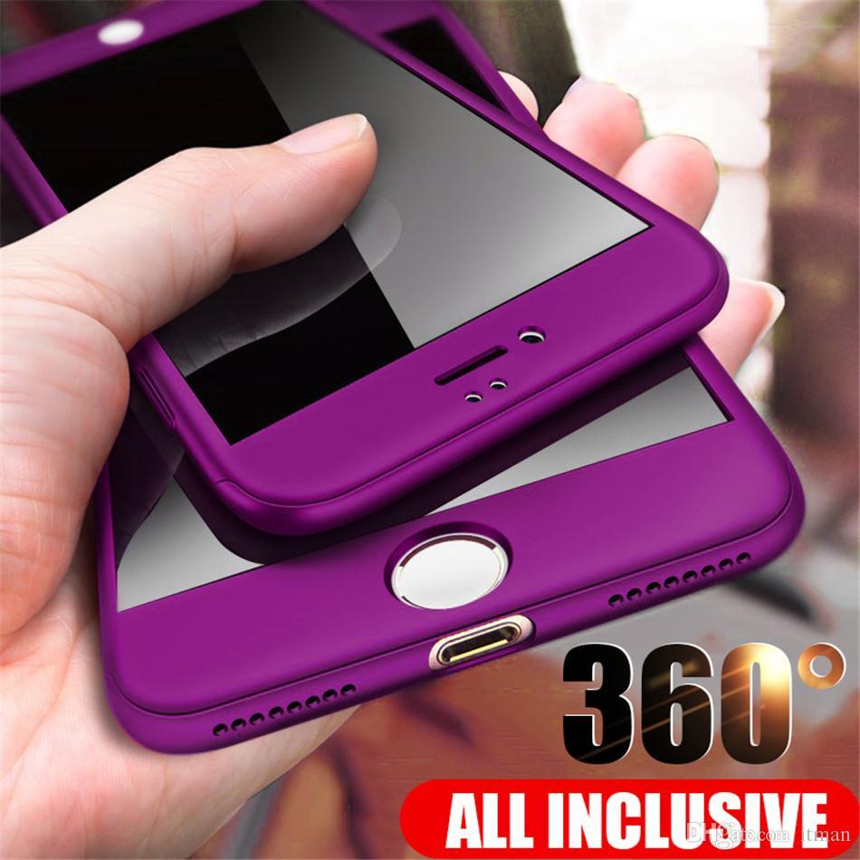 Colorfull tam Koruyucu Telefon Kılıfı iPhone 8 7 Artı 6 6s 5 5S 10 Tam Kapak Kılıf